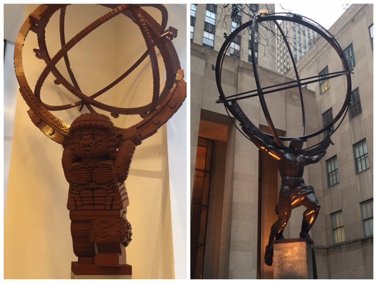 Atlas holding up the world - NYC