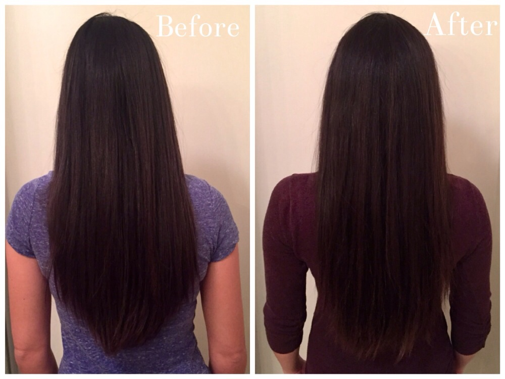 John Frieda Brilliant Brunette Visibly Brighter - Before & After