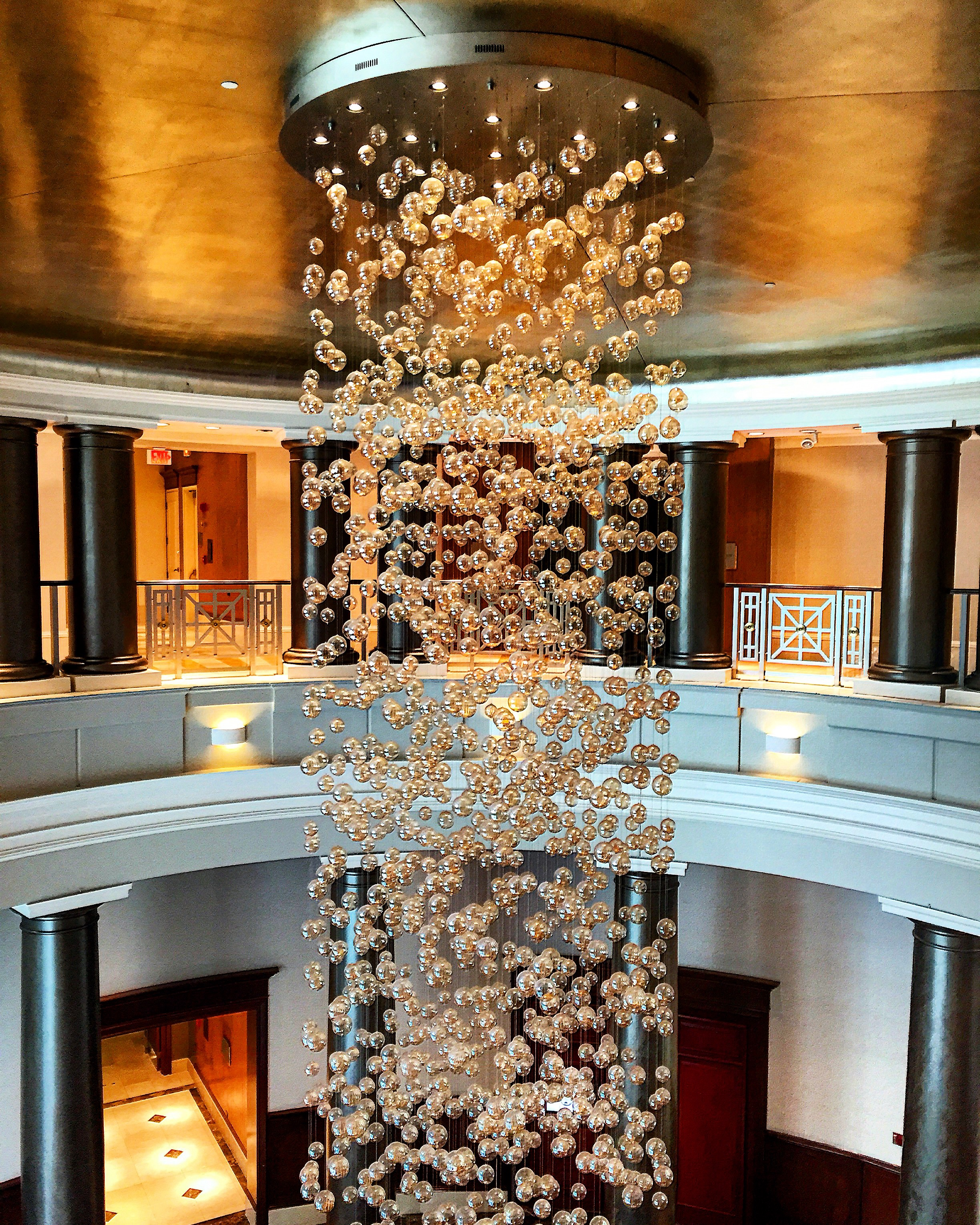 Chandelier at the Omni Hotel - Providence, Rhode Island