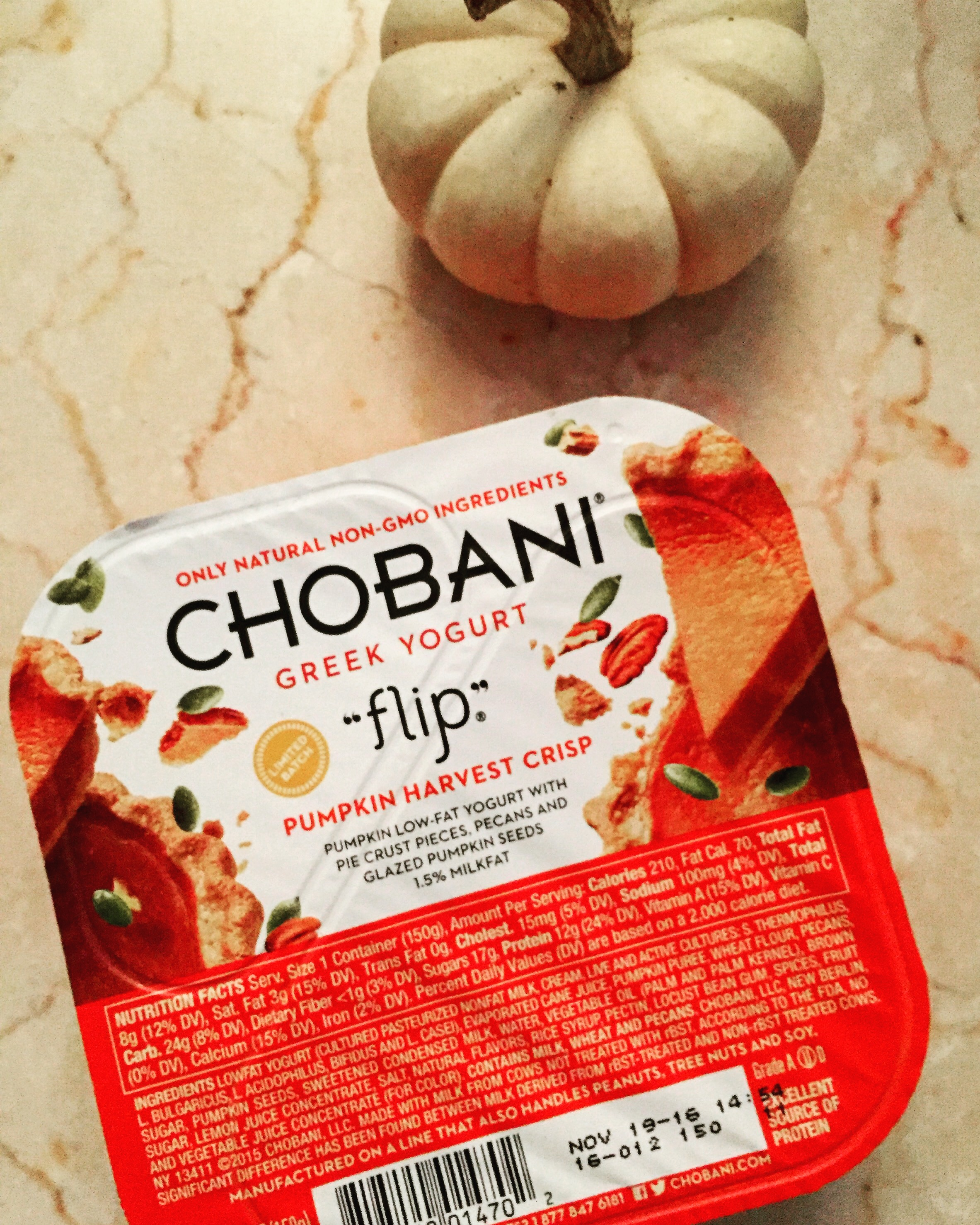 Chobani pumpkin yogurt