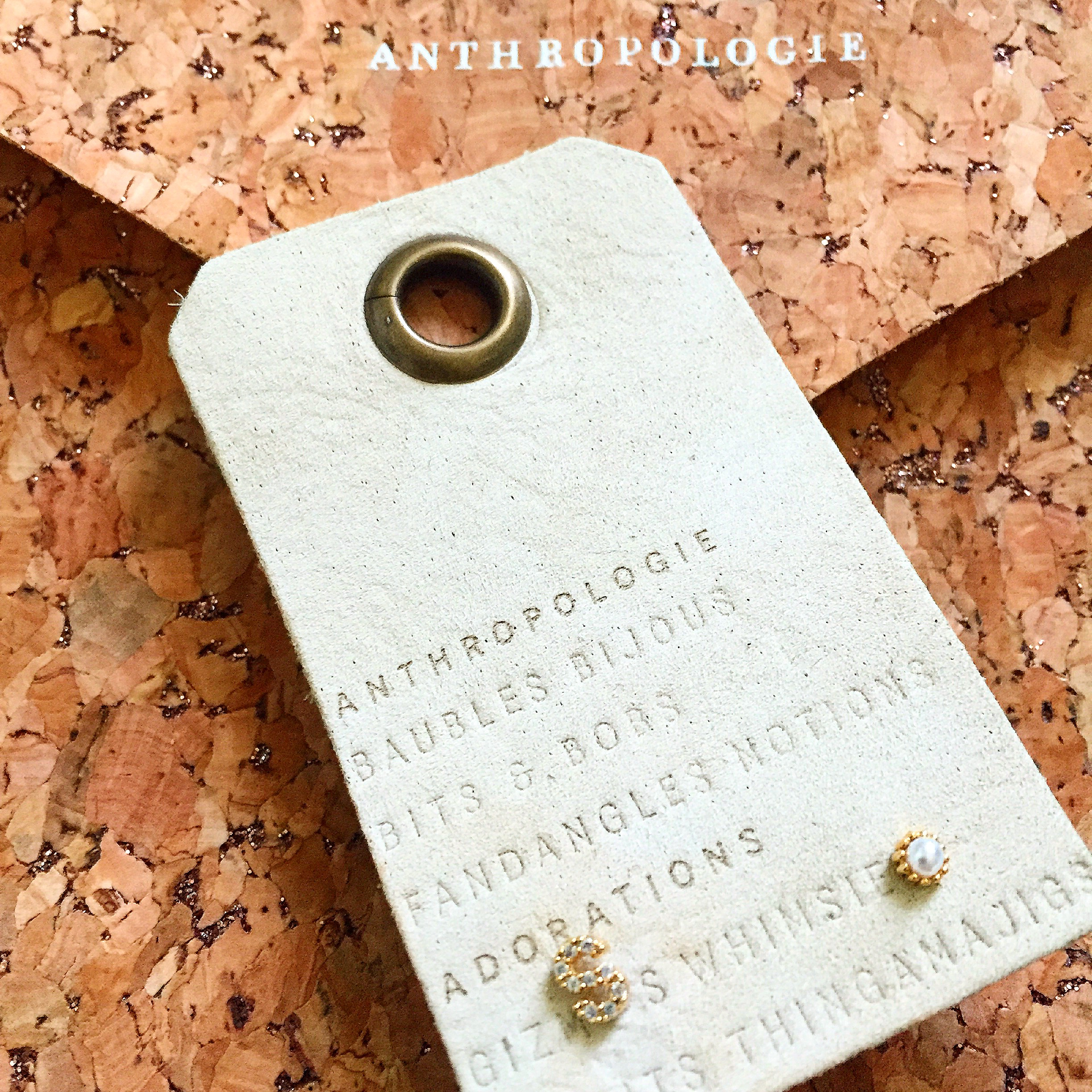 Anthropologie Initial Earrings