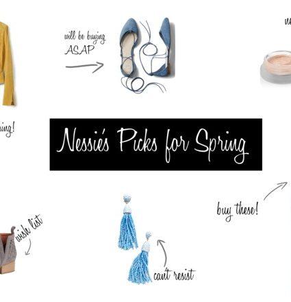 Nessie's Picks for Spring