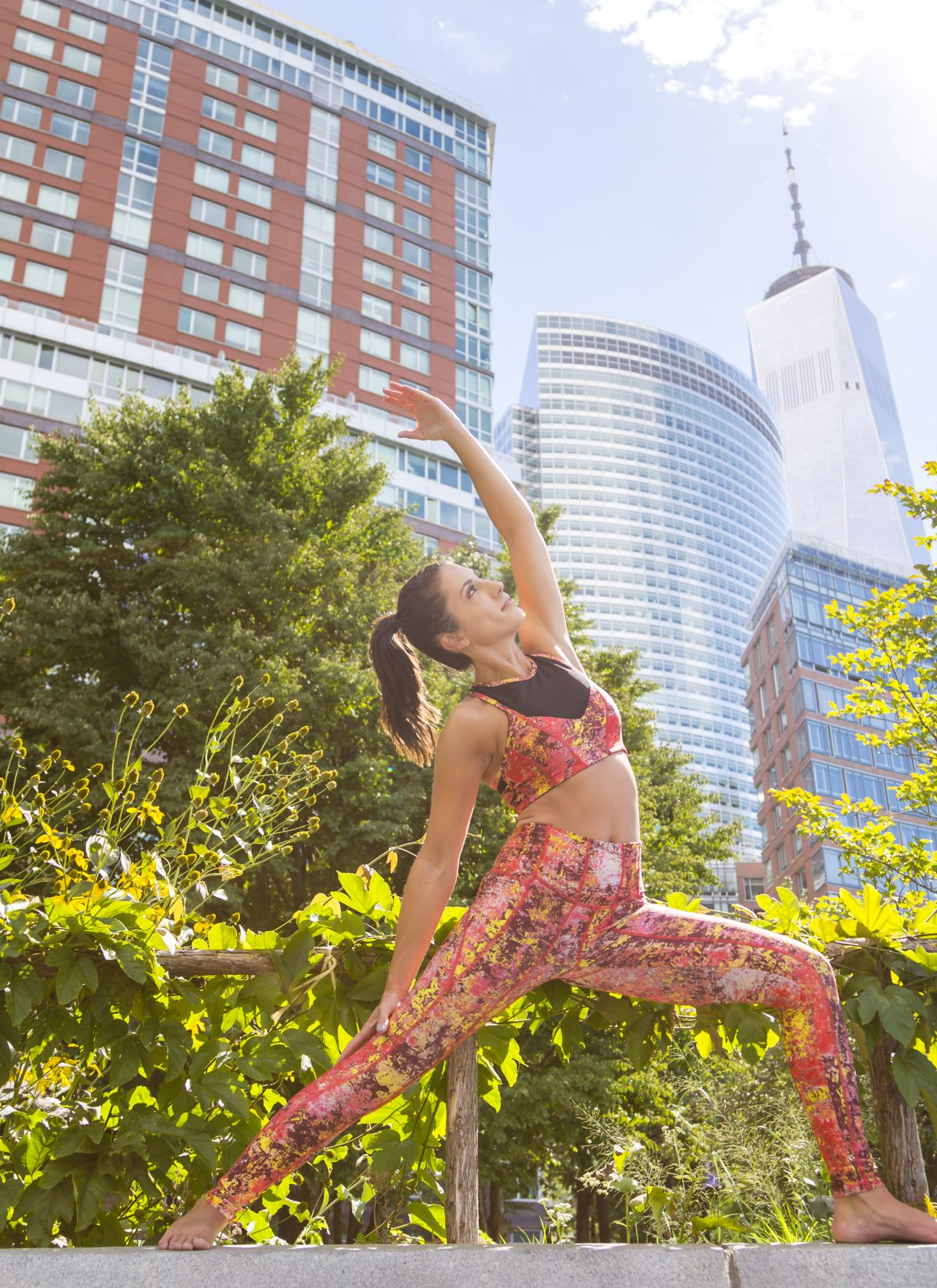 Go with the Flow in Ghost Flower Activewear